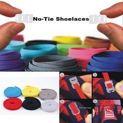 Elastic No Tie Shoelaces Sports Trainer Running Athletic Sneaks Shoe laces DIY
