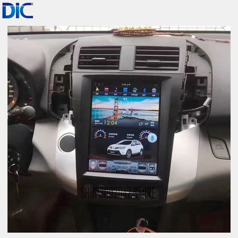 DLC Navigation GPS Car player Vertical screen Android system Radio mirror link Steering-Wheel For toyota RAV4 2009-2013