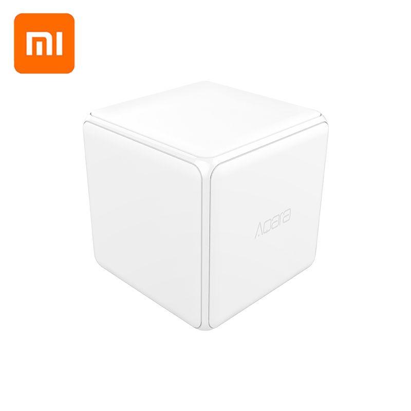 Xiaomi Aqara contrôleur de Cube magique Version Zigbee contrôlée par Six Actions pour appareil domestique intelligent travailler avec l'application mijia Home