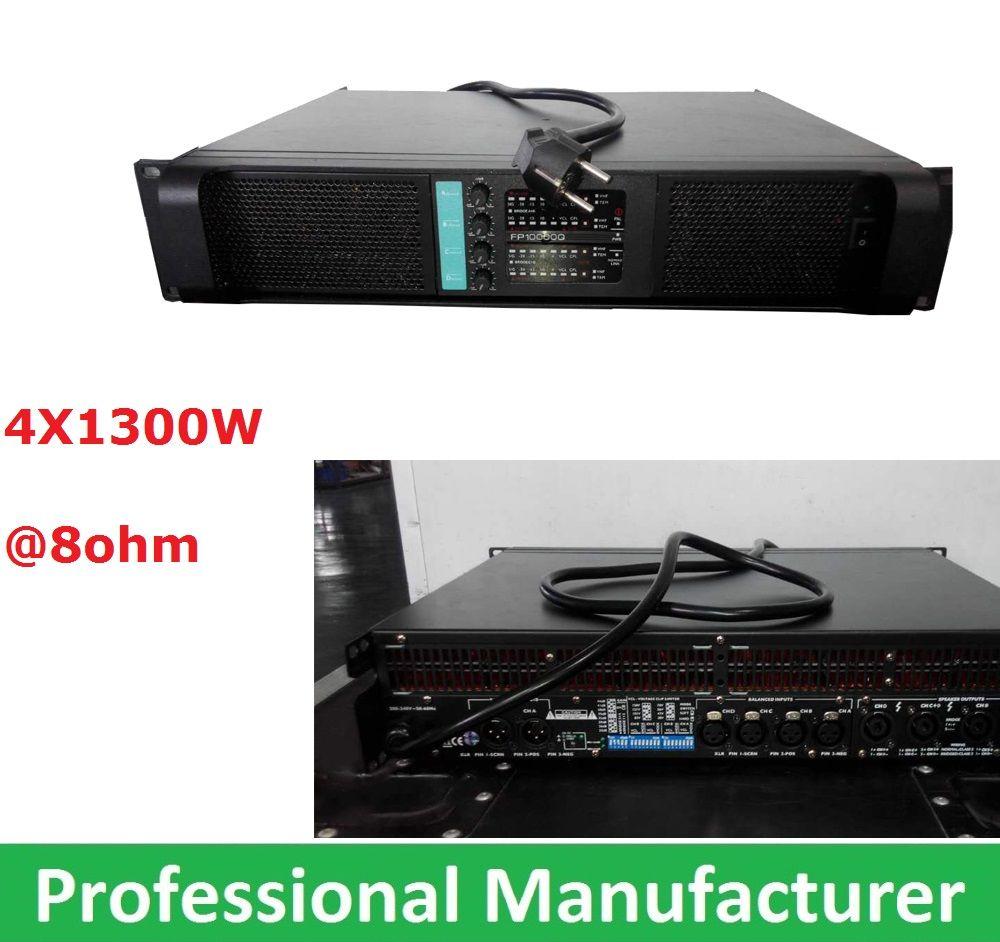 2015 LAB GRUPPEN Профессиональный Популярные Высокая производительность FP10000Q линейный массив переключатель Усилители домашние 4x1300watts 4 канала PA К...