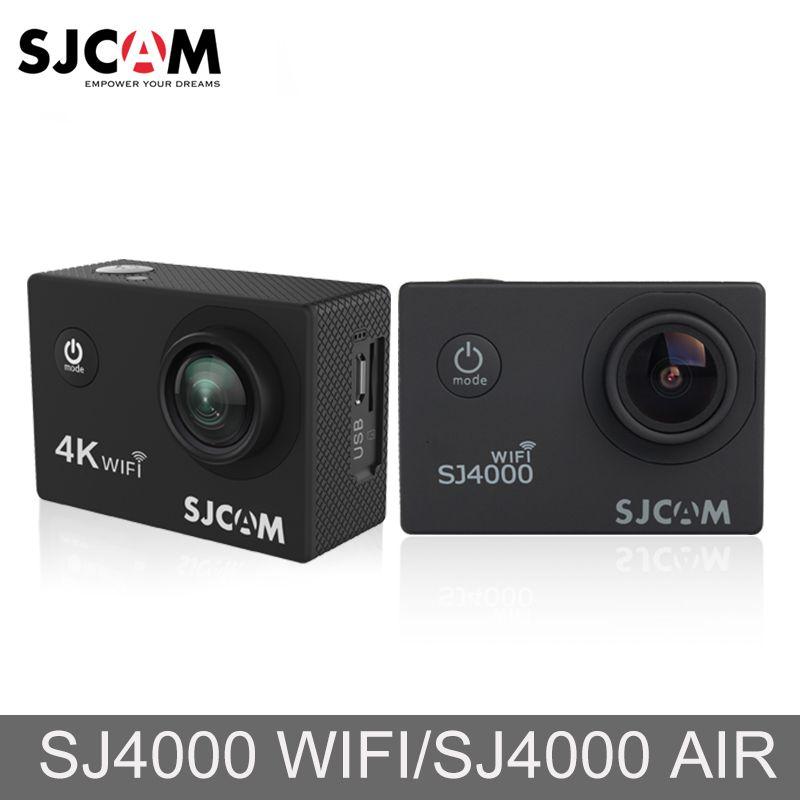 Original SJCAM SJ4000 AIR SJ4000 WiFi 2'' Screen Outdoor Video Cam 4K Full HD 30M Waterproof Sports Action Camera Car Mini DVR