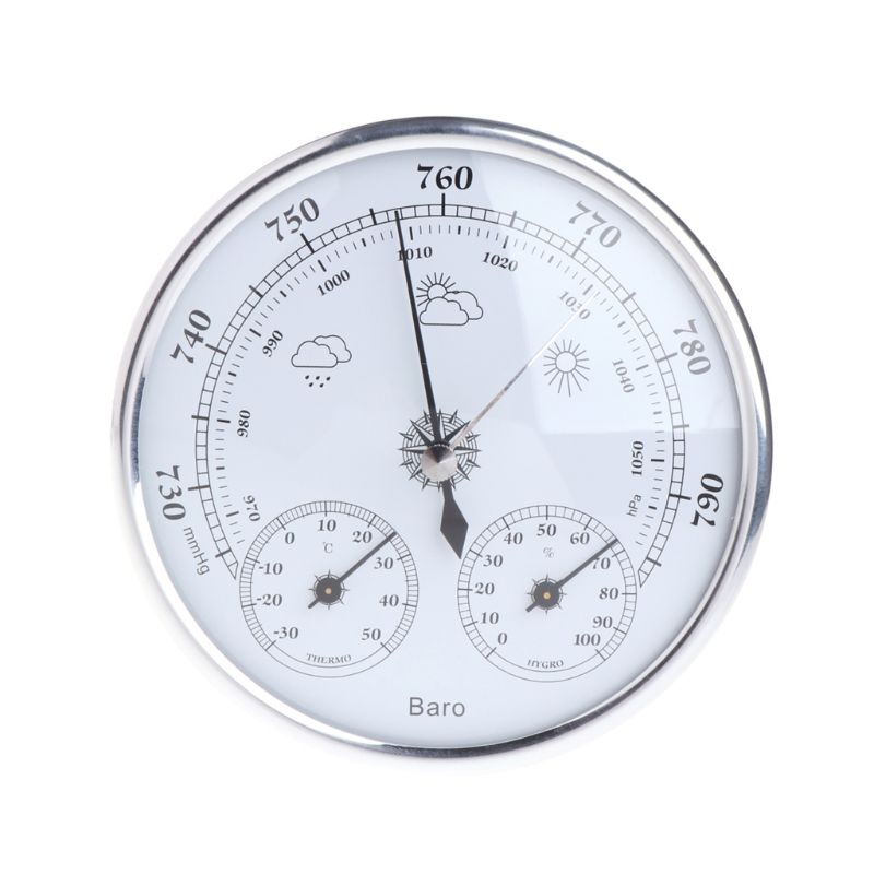 Household Weather Station Barometer Thermometer Hygrometer Wall Hanging Tester Tools W315