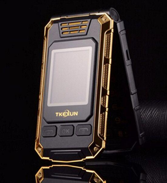 Flip Double dual Screen Dual SIM Card 2800mAh long standby touch screen FM mobile Phone TKEXUN G5 cell phone
