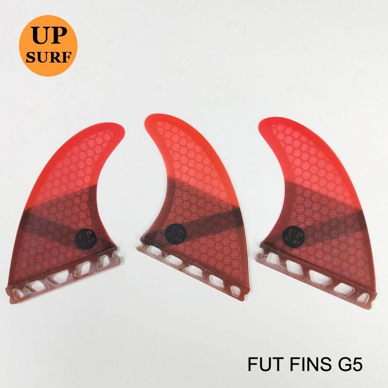 Surf pagayer futurs ailerons G5 nid d'abeille en fibre de verre ailerons de planche de surf couleur Pure ailerons 4 couleurs disponibles 3 pc par set Quilhas
