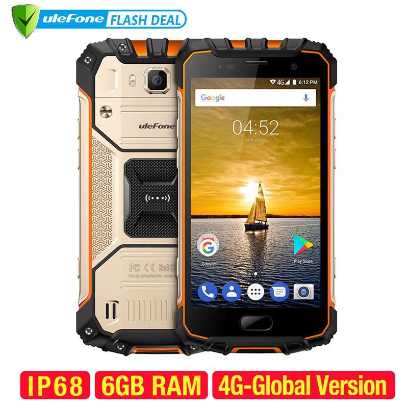 Ulefone Rüstung 2 Wasserdichte IP68 NFC Handy 5,0 zoll FHD MTK6757 Octa Core Android 7.0 6 GB RAM 64 GB ROM 16MP 4G Smartphone