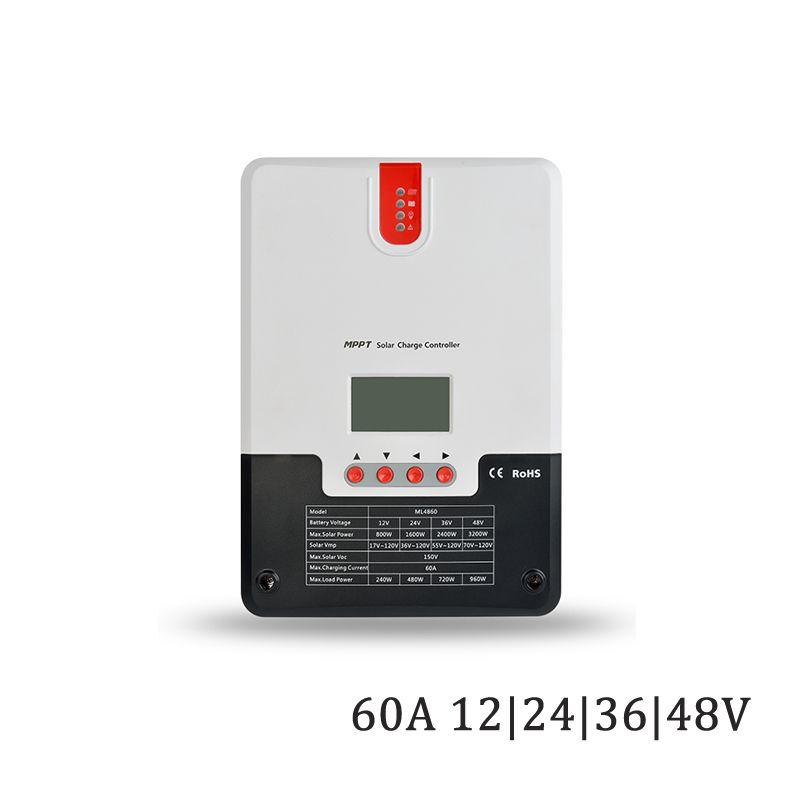 60A 12 v/24 v/36 v/48 v LCD display MPPT solar ladegerät seale AGM GEL eisen li-ion lithium-batterie PWM solar laderegler