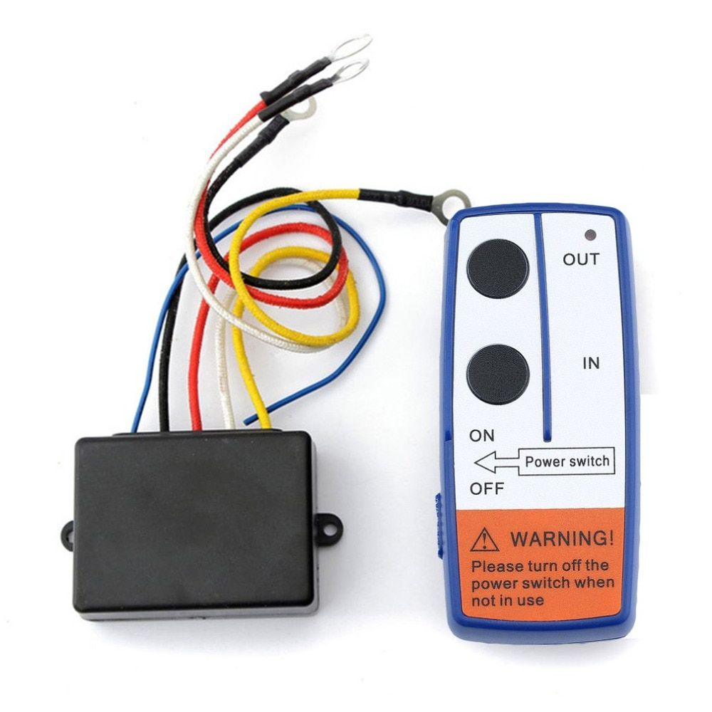Newest 23A DC 12V 50FT Remote Control Kit Wireless Winch Remote Control Switch For Truck ATV SUV Winch Switch Drop Shipping