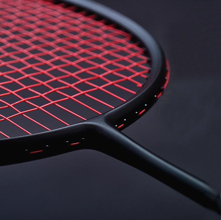 1 STÜCK ZARSIA 4U 82g schwarz Badminton schläger, angriff/Geschwindigkeit/Control/Alle-Runde Badminton Schläger qualität carbon schläger