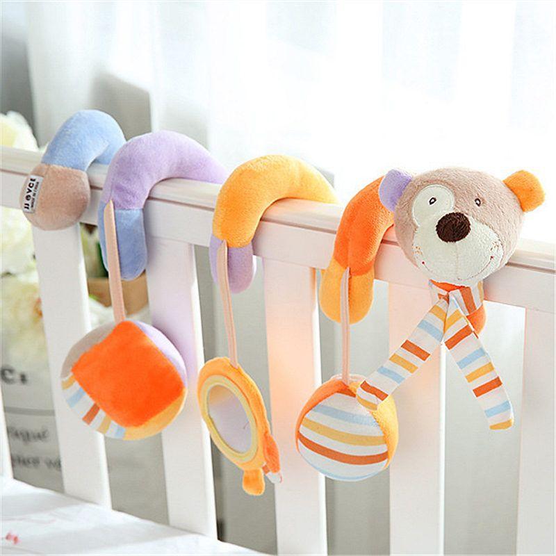 Bébé bébé jouet activité spirale lit poussette pare-chocs avec BB dispositif suspendu berceau hochet enfants jouets nouveau-né juguete bebe animales