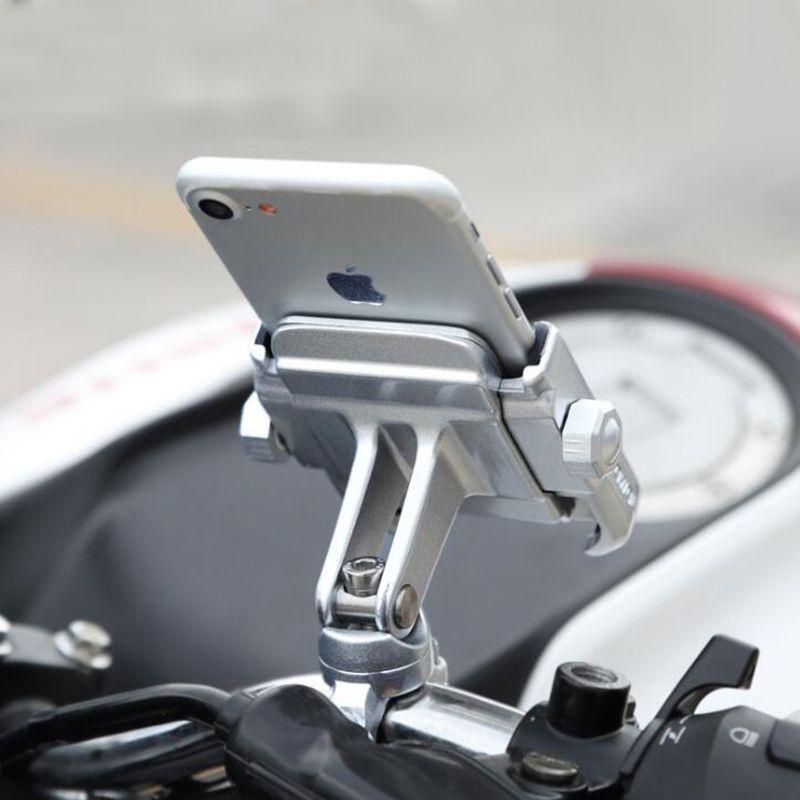 Aluminum Alloy Bike Motorcycle Handlebar Mount Holder 360 Degrees Rotation Phone Holder for iPhone X 8 7 6s Universal for Xiaomi