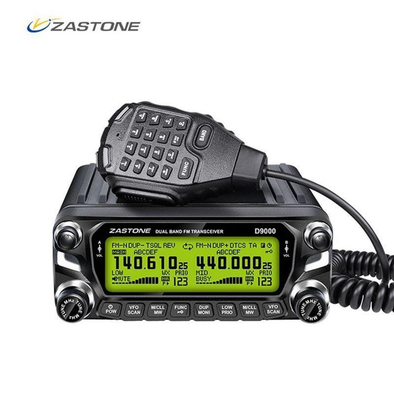 Zastone D9000 Auto Walkie Talkie 50 KM Auto Radio Station 50 W UHF/VHF 136-174/400-520 MHz Zwei Weg Ham Radio HF Transceiver