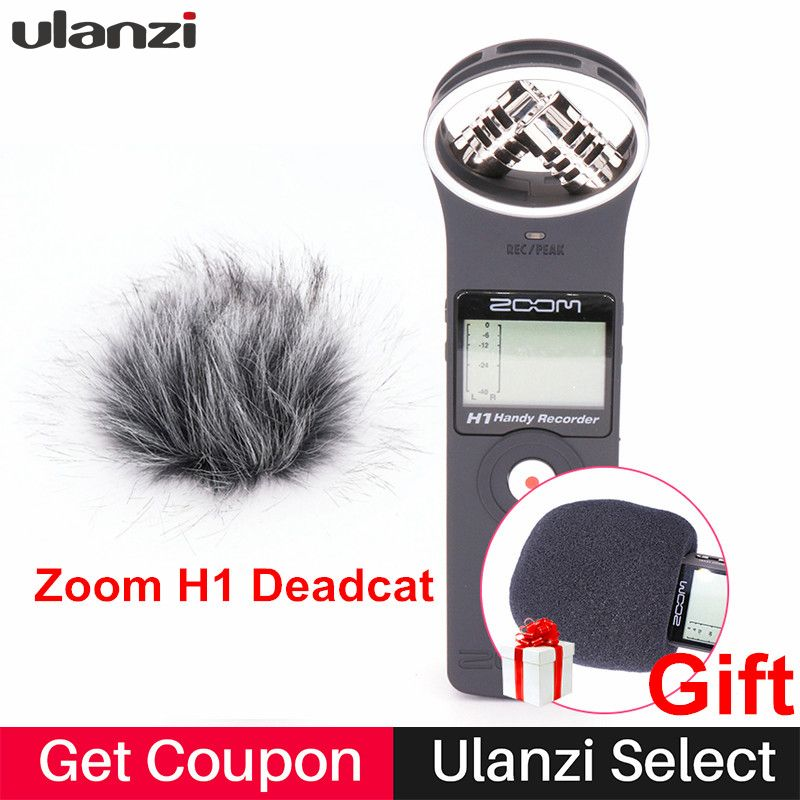 <font><b>Ulanzi</b></font> ZOOM H1 Handy Recorder Digital Camera Audio Recorder Stereo Microphone for Interview SLR Recording Microphone Pen Handy