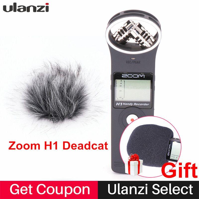 Ulanzi ZOOM H1 Handy Enregistreur Numérique Caméra Audio Enregistreur Stéréo Microphone pour Entrevue REFLEX Enregistrement Microphone Pen Handy