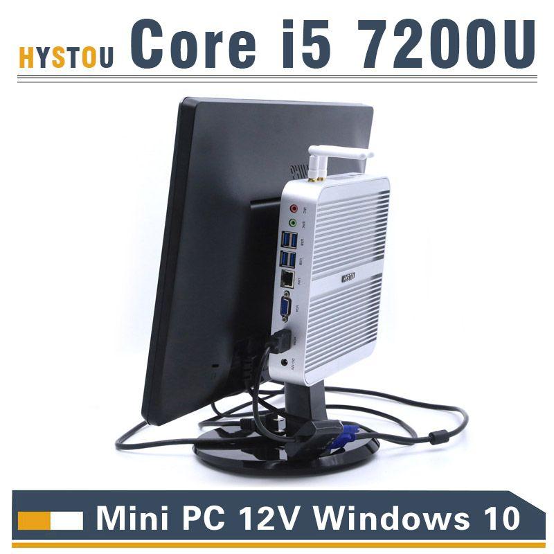 Kaby Lake Core i5 7200U Mini PC Windows i3 7100U HDMI+VGA Mini PC i3 i5 minipc 4K HTPC Intel HD Graphics 620 Micro PC Windows 10