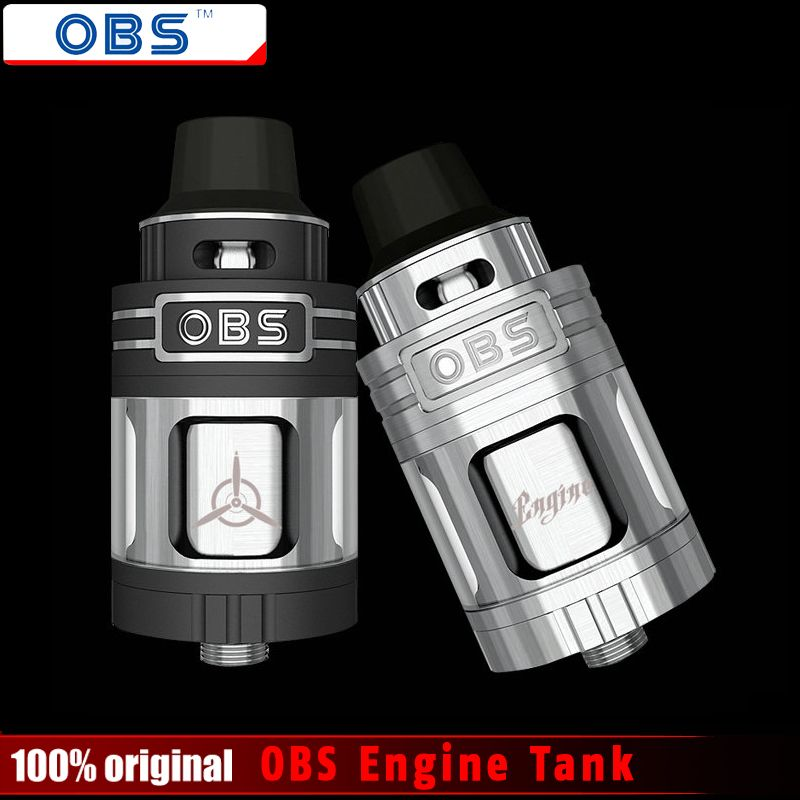 Original OBS Engine RTA RBA Tank 5.2ml Top Filling and Airflow Control Rebuild Deck OBS Engine Atomizer E- Cigarettes