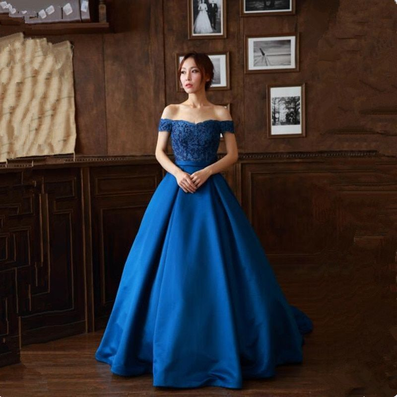 New Arrival sweetheart Long Prom Dresses Luxury Lace Appliques Sleeveless Satin Formal Evening Dress Party Gown Custom 2018