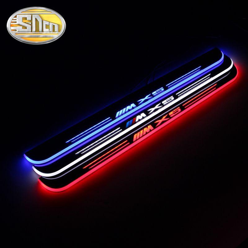 SNCN Impermeable de Acrílico Móvil LED Placa Del Desgaste Del Pedal Bienvenido Coche de Pedales Travesaño de la puerta Camino de Luz Para BMW X5 E70 2007-2012