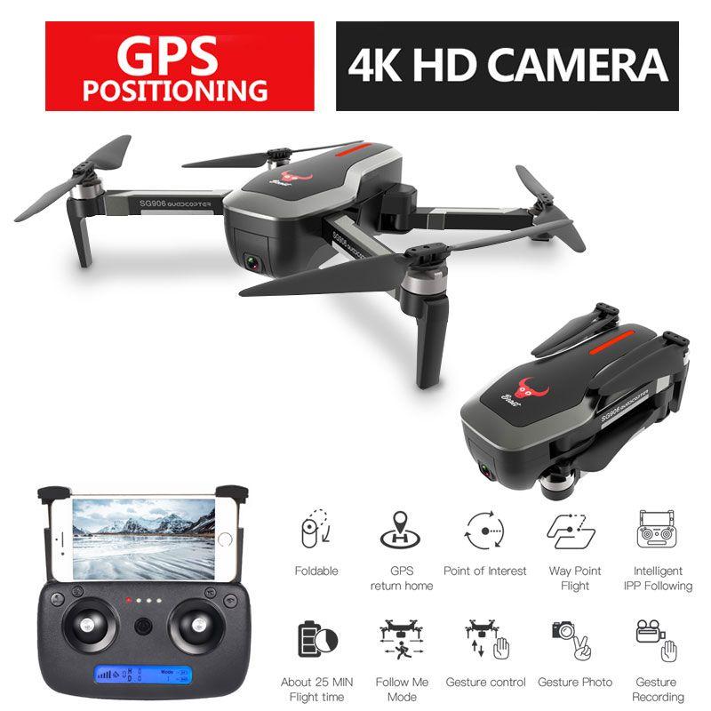 SG906 Profissional GPS 5G Faltbare Drohne mit Kamera 4K WiFi FPV Weitwinkel Optischen Fluss Bürstenlosen RC Quadcopter hubschrauber Spielzeug