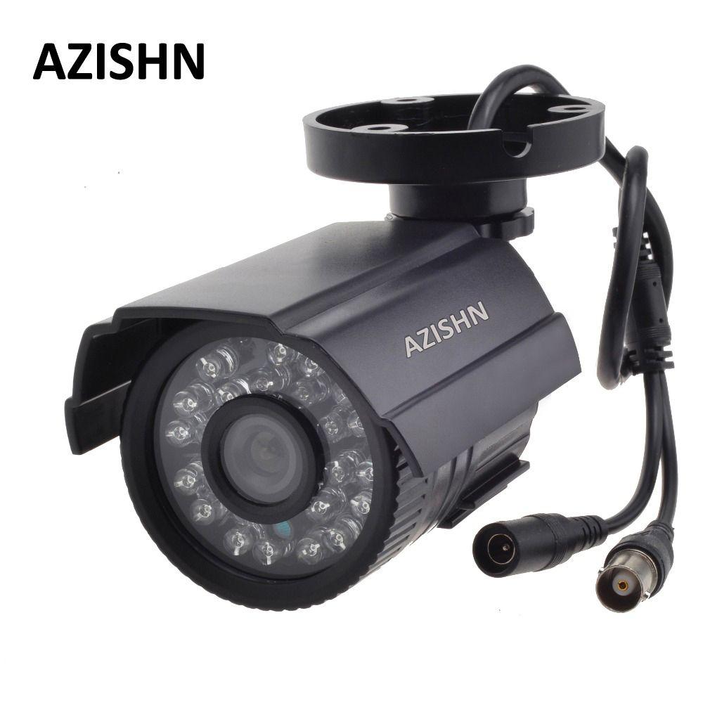 AZISHN CCTV Camera 800TVL/1000TV IR Cut Filter 24 Hour Day/Night Vision Video Outdoor Waterproof IR Bullet Surveillance Camera