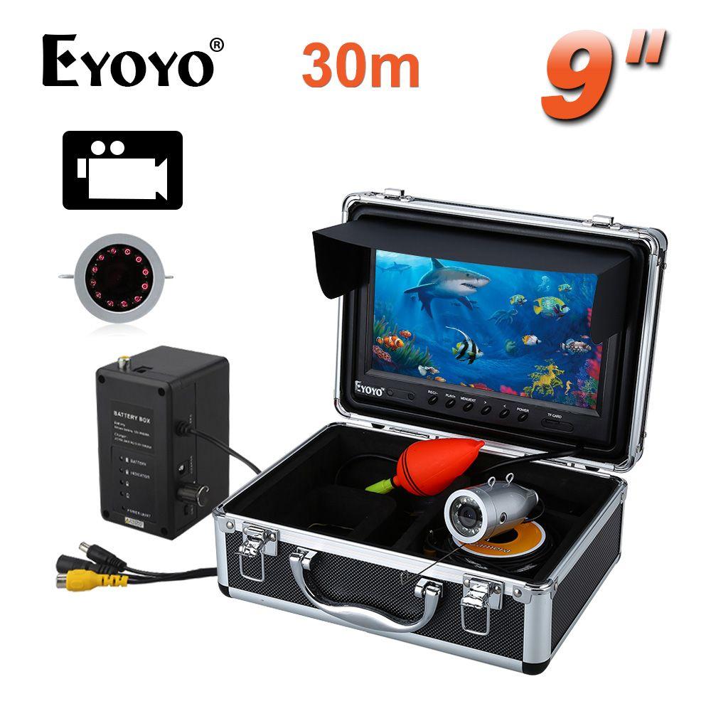 Eyoyo 30 M Sonda de Infrarrojos HD 1000TVL Cámara Subacuática De la Pesca 9