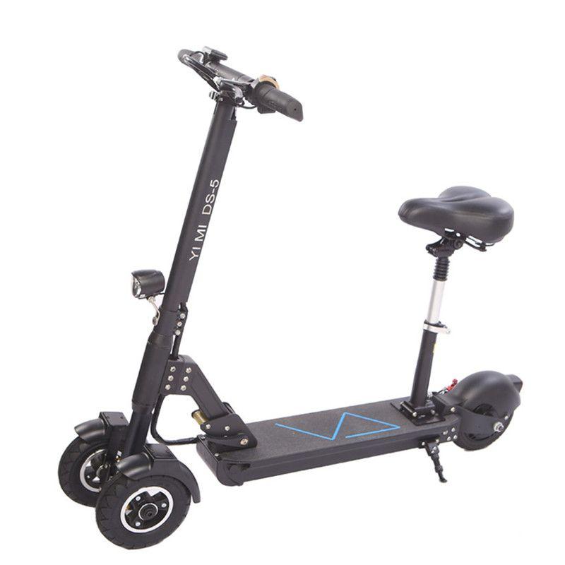 3 rad Elektrische Roller Mit Sitz Elektro-scooter 8 Zoll 400 W 36 V/500 W 48 V Klapp elektrische Skateboard Für Erwachsene
