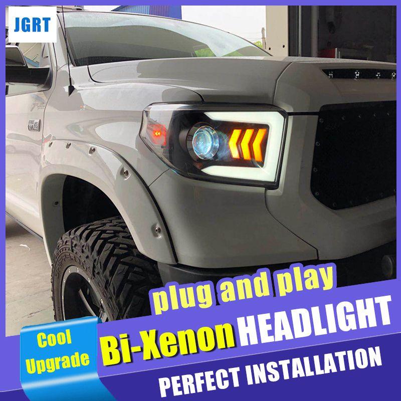 Auto Styling für Toyota Tundra Scheinwerfer 2014-2018 Dynamische Blinker LED Kopf lampe DRL Hid-Xenon-objektiv Auto zubehör