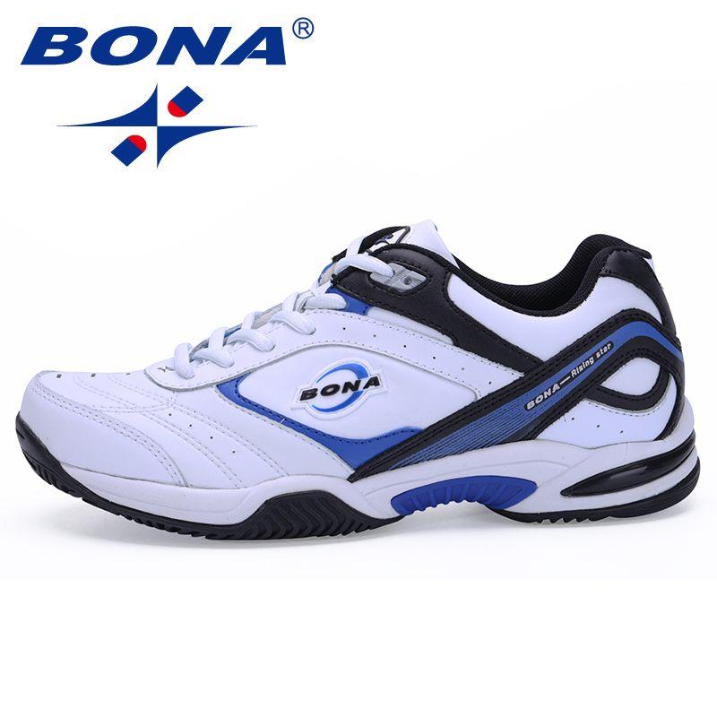 BONA New Classics Style Men Tennis Shoes Athletic Sneakers For Men Orginal Professional Sport <font><b>Table</b></font> Tennis Shoes Free Shipping