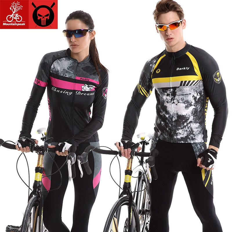 Mountainpeak Long Sleeve cycling set spring/summer 2017 new suits for men and women bicycle clothing pants trousers sunscreen