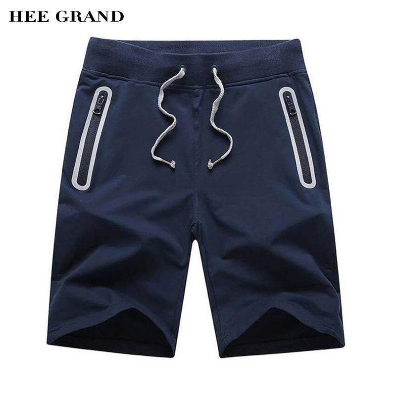 Hee Grand/Для Мужчин's Шорты для женщин 2016 новое поступление модные летние Повседневное прямые Шорты для женщин сплошной бермуды M-3XL Размеры 3 цв...