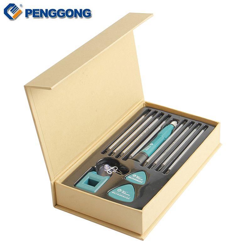 Penggong 13 шт. точность Отвёртки Набор бит Магнитный Phillips Torx для Iphone ноутбук смартфон Отвёртки ремонт Инструменты
