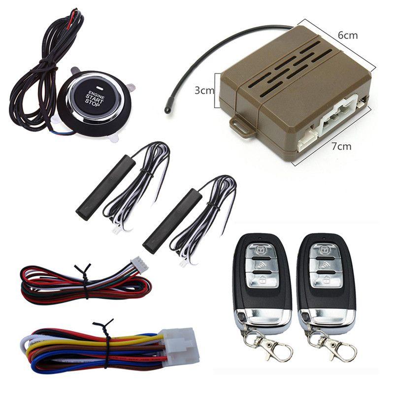 Kroak Car Alarm System PKE Keyless Entry Central Locking Push Button Engine Ignition Start/Stop Remote Engine Start System kit