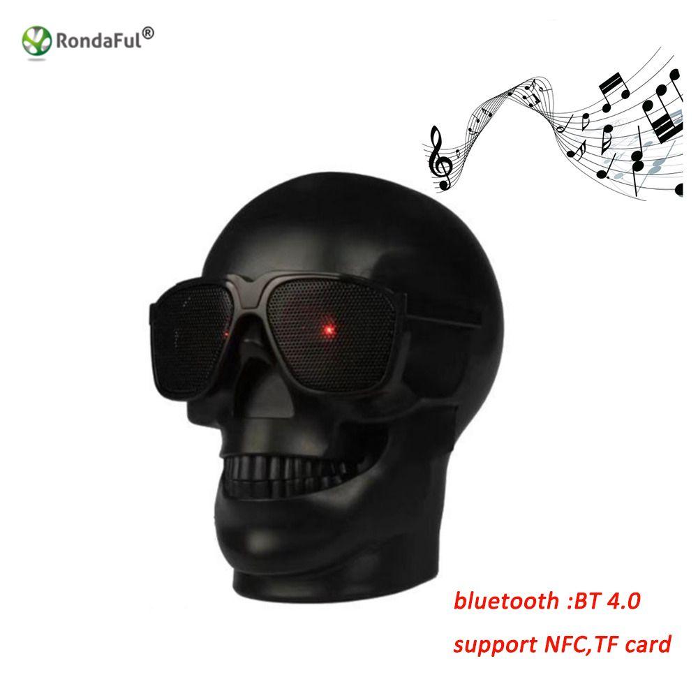 Crâne Forme Sans Fil Bluetooth Haut-Parleur Lunettes De Soleil Crâne Haut-Parleur Mobile Subwoofer Polyvalent Haut-Parleur Musique Colonne Haut-Parleur