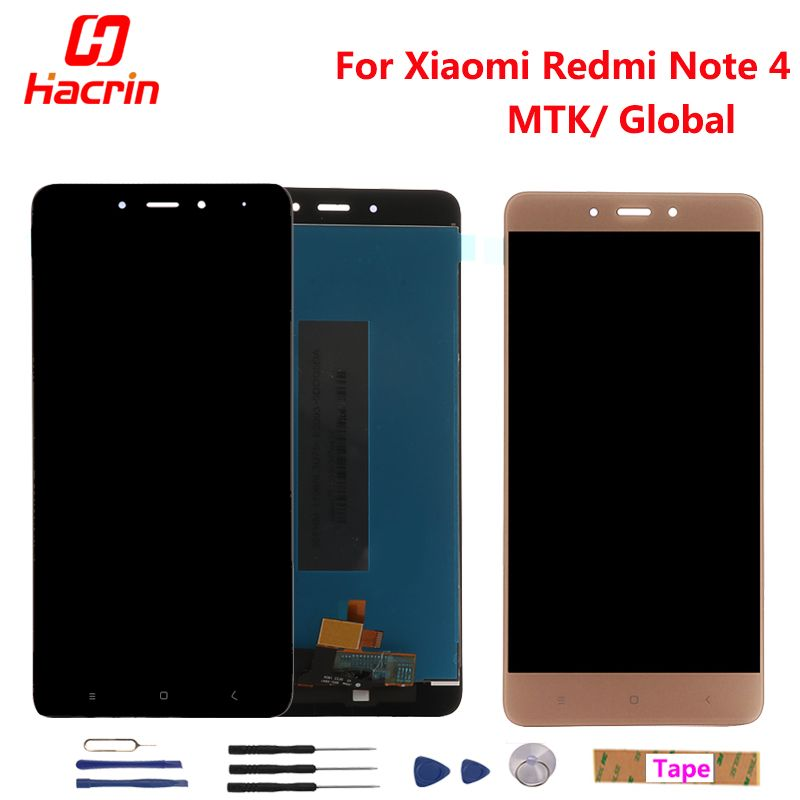 Xiaomi Redmi Note 4 LCD Display Touch <font><b>Screen</b></font> Digitizer Assembly Replacement For Redmi Note 4 Pro Prime Global Version