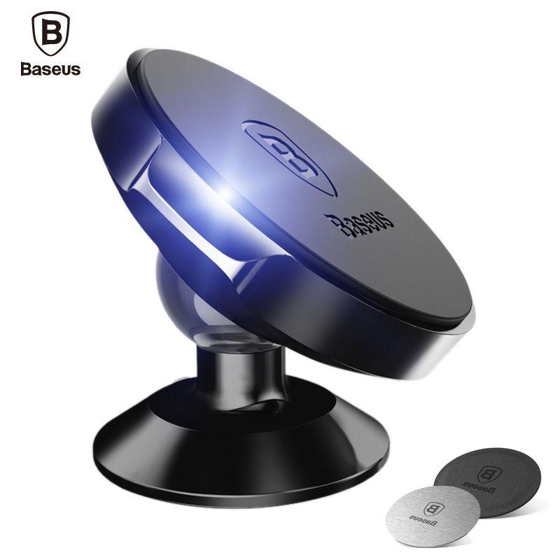 Baseus 360 Degrés Magnétique Support de Téléphone De Voiture Téléphone Mobile Tableau de Bord Vertical Support Magnétique Stand Pour iPhone 7 6 Samsung Xiaomi