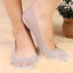 4 вида стилей модные женские туфли Носки летние женские хлопковые кружевные короткие ботильоны женские невидимое нескользящее покрытие Liner...
