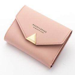 Baellerry monedero de las señoras de cuero Mini carpeta del sobre Carpeta de las mujeres monedero pequeño embrague mujer carteras Carteira W076