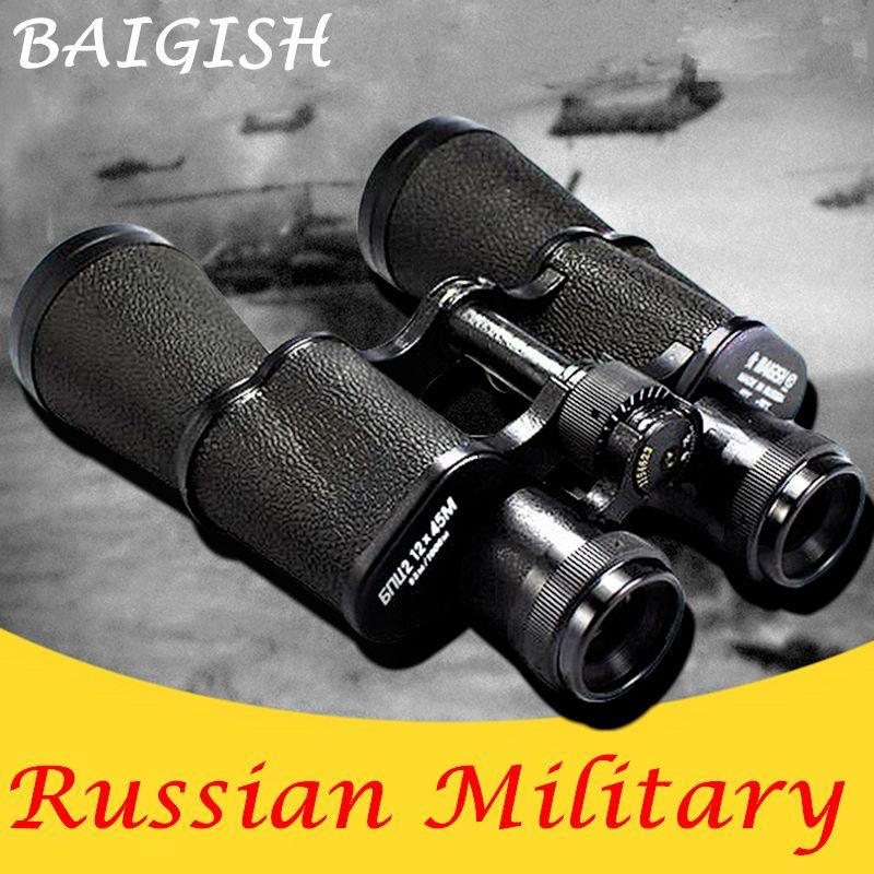 100% Guarantee Metal Russian Binoculars Military Binocular Telescope HD Lll Night Vision Wide-angle pocket mini Monocular