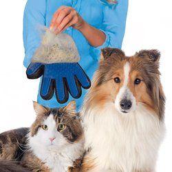Nicrew pelo de mascotas guante cepillo peine para perro de mascota gato Grooming Supply limpieza dedo Deshedding cepillo del retiro del pelo guante para animal