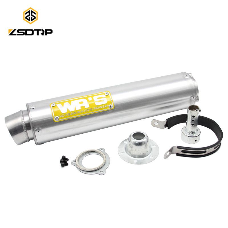 ZSDTRP Universal R105*430-C Motorcycle Modified Akrapovic Double-vented Muffler exhaust pipe CBR 125 250