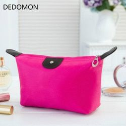 Hot Sale Lady Makeup Pouch Cosmetic Make Up Bag Clutch Toiletries Travel Kit Jewelry Organizer Casual Zipper Waterproof Purse