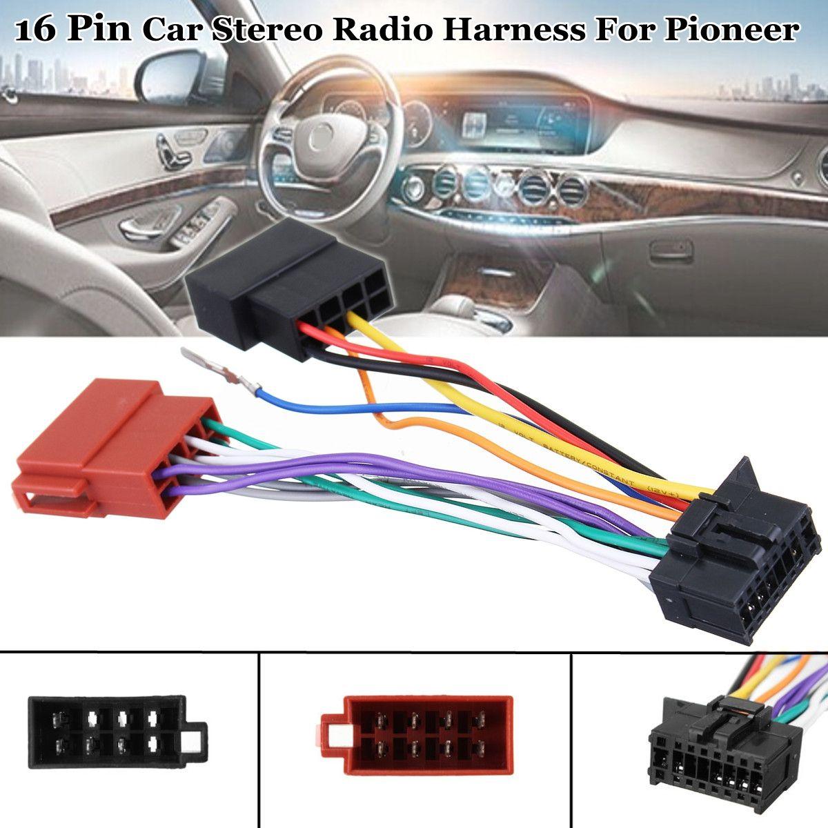 Auto Stereo Radio Player ISO Kabelbaum Stecker 16Pin für Pioneer 2003-auf
