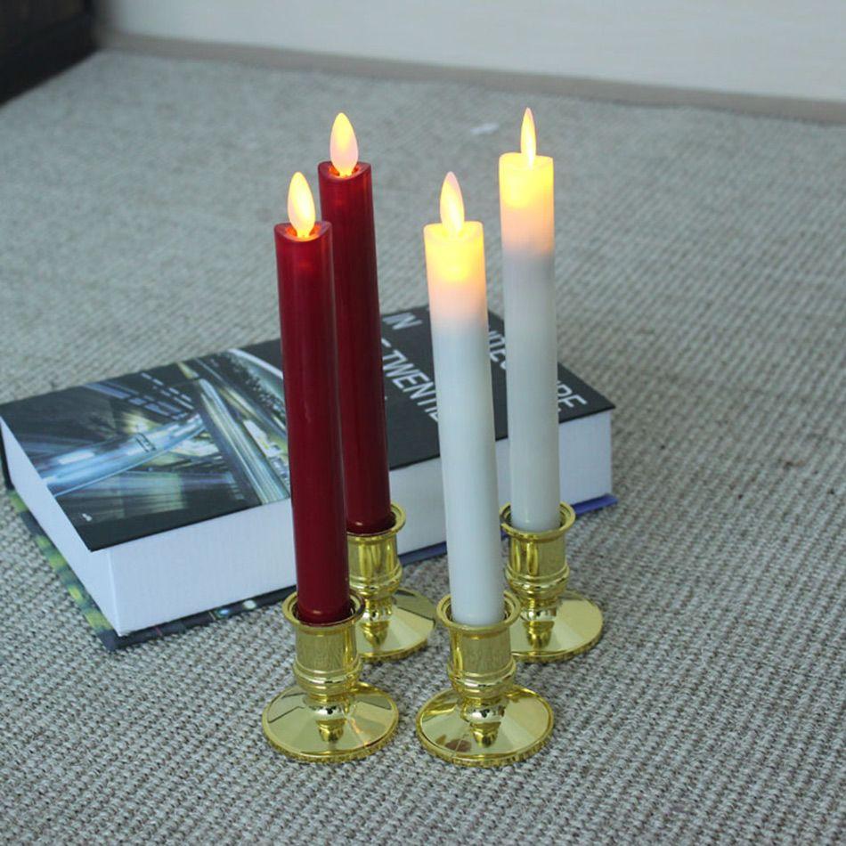 Bougie tapissée électronique sans flamme de LED avec la flamme de danse, lumière de bougie de table de dîner de restaurant, bougie/décoration de mariage