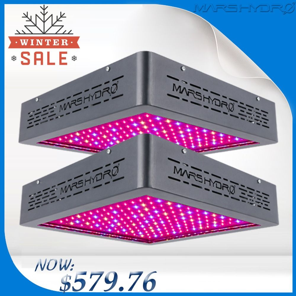 Upgraded 2PCS Marshydro Mars II 900 LED Grow Light Full Spectrum For Flowering / Growth Indoor plants growing led lamp