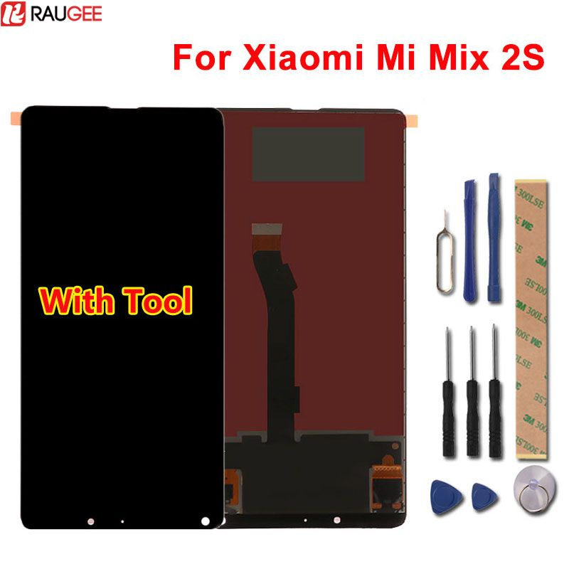 For Xiaomi Mi Mix 2S LCD Display+Touch Screen 100% New Digitizer Replacement Assembly Glass Panel For Xiaomi Mi Mix 2S +Tools