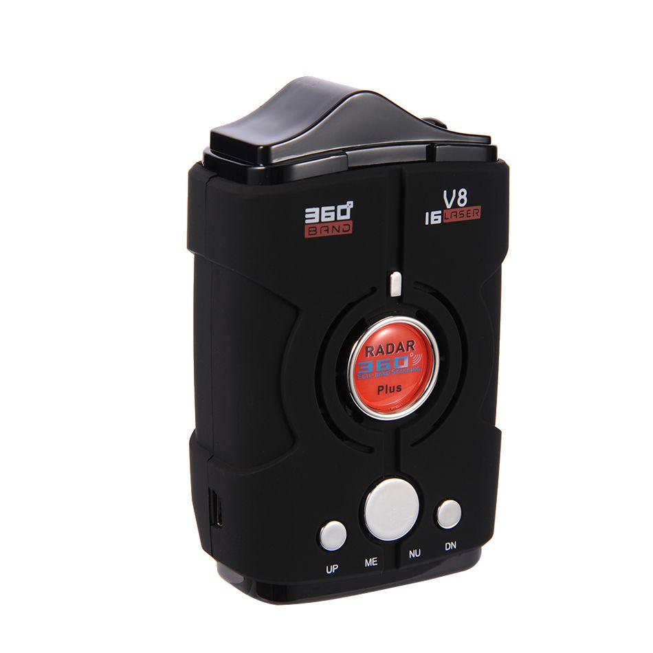 V8 360 Degree Car Radar Detector 16 Band Russia/English version LED Display Anti Radar Detector XK NK Ku Ka Laser Security