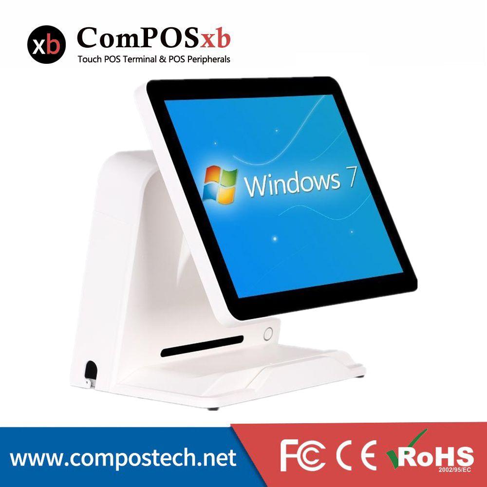 Niedrigsten Preis Kassierer Register 15 Pos PC Alle In Einem Für Einzelhandel Shop Weiß Schwarz Pos System