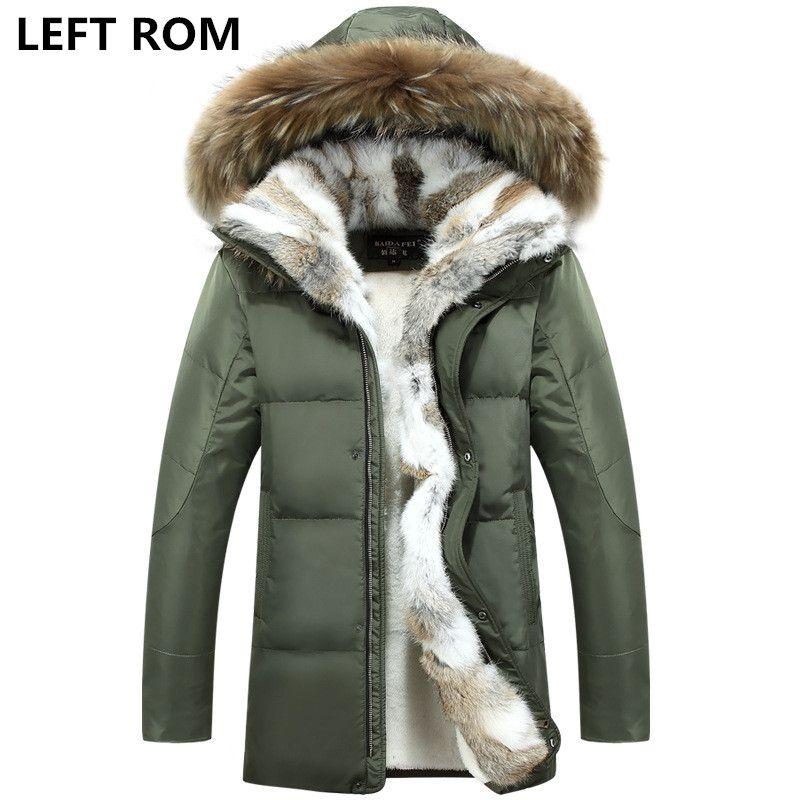LINKS ROM Große siz S-5XL männer verdickung warme winter Unten jacke/männlich schlank fell in von die kalt warm lange baumwolle gefütterte kleidung