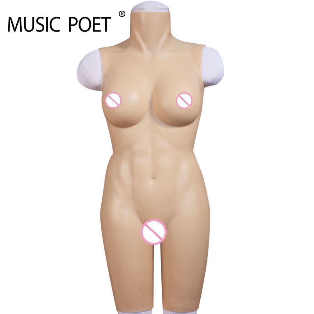 MUSIK POET Silikon Brust Formen Künstliche vagina crossdresser für transgender transen gefälschte vagina dame titten pussy