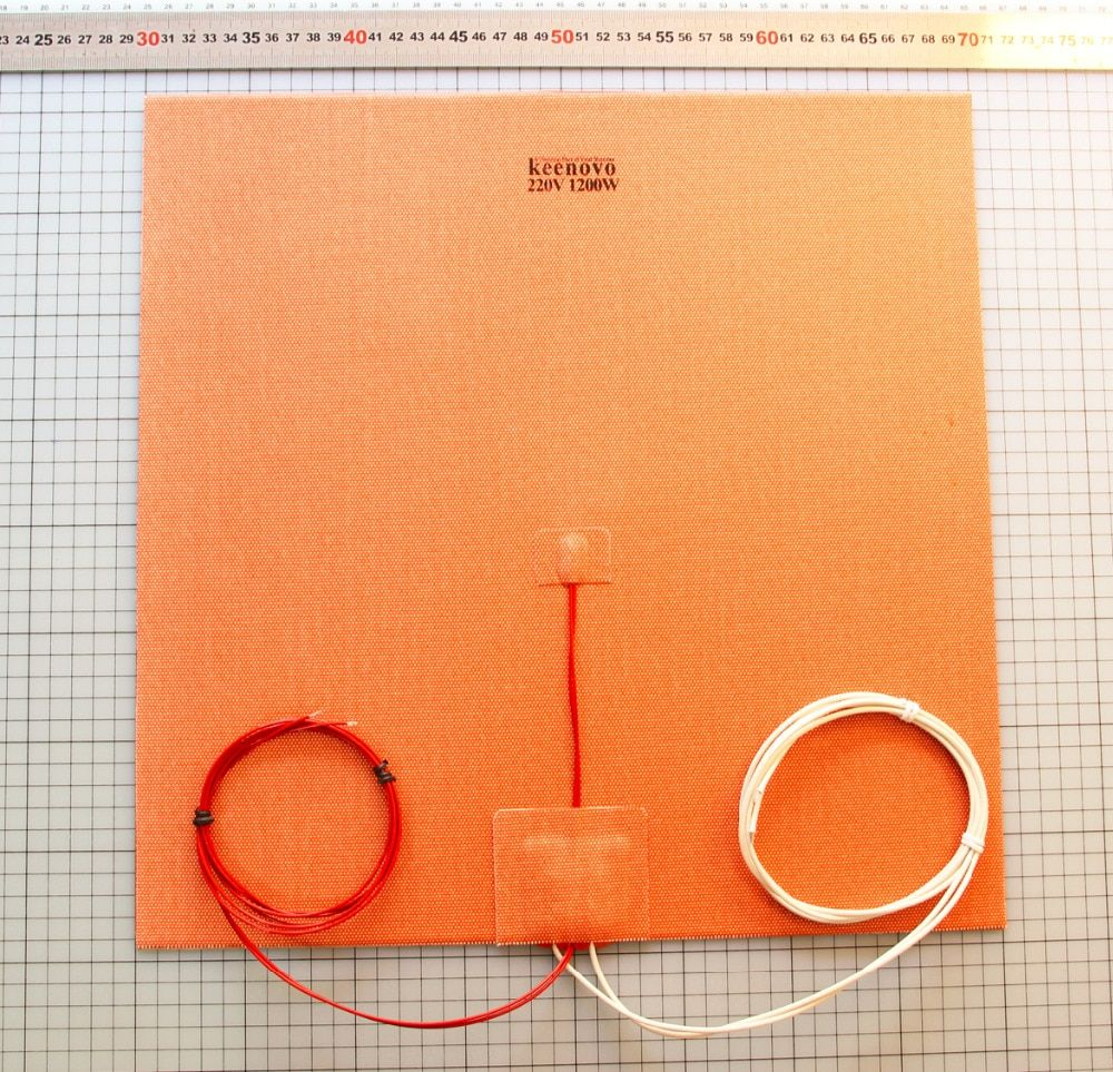 400X400mm 1200W@220V, w/ NTC 100K Thermistor Keenovo Silicone Heater Pad for Huge Mega Cube 3D Printer Heatedbed Build Plate