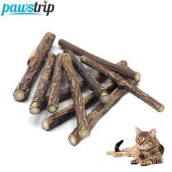 10 قطعة/الوحدة النقي الطبيعي الوجبات العصي تنظيف الأسنان القط البري القط اللعب